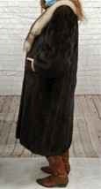Vintage Authentic Christian Dior Fourrure Brown Fur Coat Size Unknown image 2
