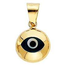 14k Yellow Gold Evil Eye Charm Pendant - $45.00