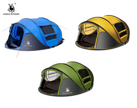 3-4 Person Camping Pop Up Tent Waterproof Hydraulic Automatic Outdoor Hiking New - $96.76
