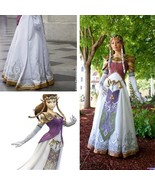 Custom Princess Zelda Costume Cosplay Costume Halloween Costume - $125.00