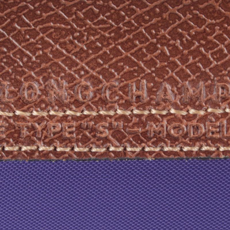 Longchamp Le Pliage Small Short Handel Nylon Handbag Amethyst 1621089958