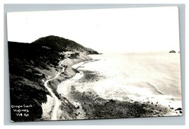 Vintage 1940's RPPC Postcard Roadside Scene Oregon Coast Highway Oregon - $25.71