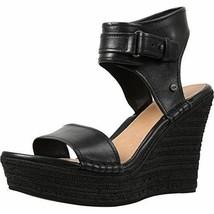 UGG Women's Maryanne Wedge Sandal, Size: 10 M, Black - NEW - £74.38 GBP