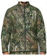 Mens Under Armour Cold Gear Jacket Large Infrared Scent Control Rut Moss... - $169.95