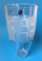 """Rosenthal Classic Domus Lead Crystal Vase with Frosted Squares Germany 9.5"""" - $39.95"""