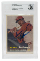 Frank Robinson Signed 1957 Topps #35 Cincinnati Redlegs Baseball Card BGS - $678.99