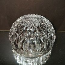 1 (One) GORHAM ALTHEA Lead Crystal Apple Trinket Box LARGE Made in Germany image 4