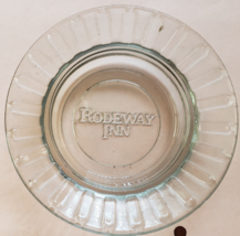 "Rodeway Inn  4-1/2"" x 1"" tall clear round glass ashtray - $4.95"