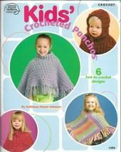Kids Crocheted Ponchos 1395 Crochet American School of Needlework 2005 - $8.99