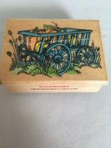 Hero Arts Stamp Rustic Wagon Fall Scene Harvest Pumpkins Farm Card Making Craft - $7.20