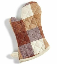 Martha Stewart Collection Butcher Block Check Oven Mitt Pot Holder New With Tag