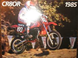 1985 Honda CR80R Nos Oem Dealer's Sales Literature Brochure 85 Cr 80 R - $35.88
