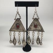 "5.5""x2.1"",45g,Vintage Afghan Turkmen Earring Tribal ATS Boho Afghanistan... - $12.00"