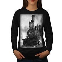 Retro Train Picture Jumper Vintage Age Women Sweatshirt - $18.99