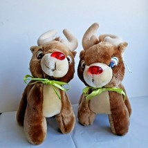 Rudolph Red Nose Reindeer Set Applause Stuffed Plush Vintage Duracell Promotion - $68.09