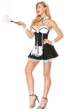 French Maid Costume - S- 2XL Women Sexy Naughty French Maid Uniform Dress image 5