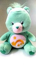 "Nanco Care bear  Plush Stuffed Green 15"" WISH BEAR   - $21.99"