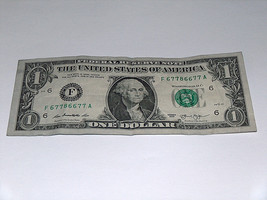 2013 $1 Dollar Bill US Note High # 6 7 8 Pairs 67786677 Fancy Serial Number - $11.94