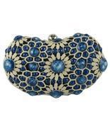 Sondra Roberts Sophisticated Crochet Jewel Beaded Sapphire Blue Evening ... - €45,05 EUR