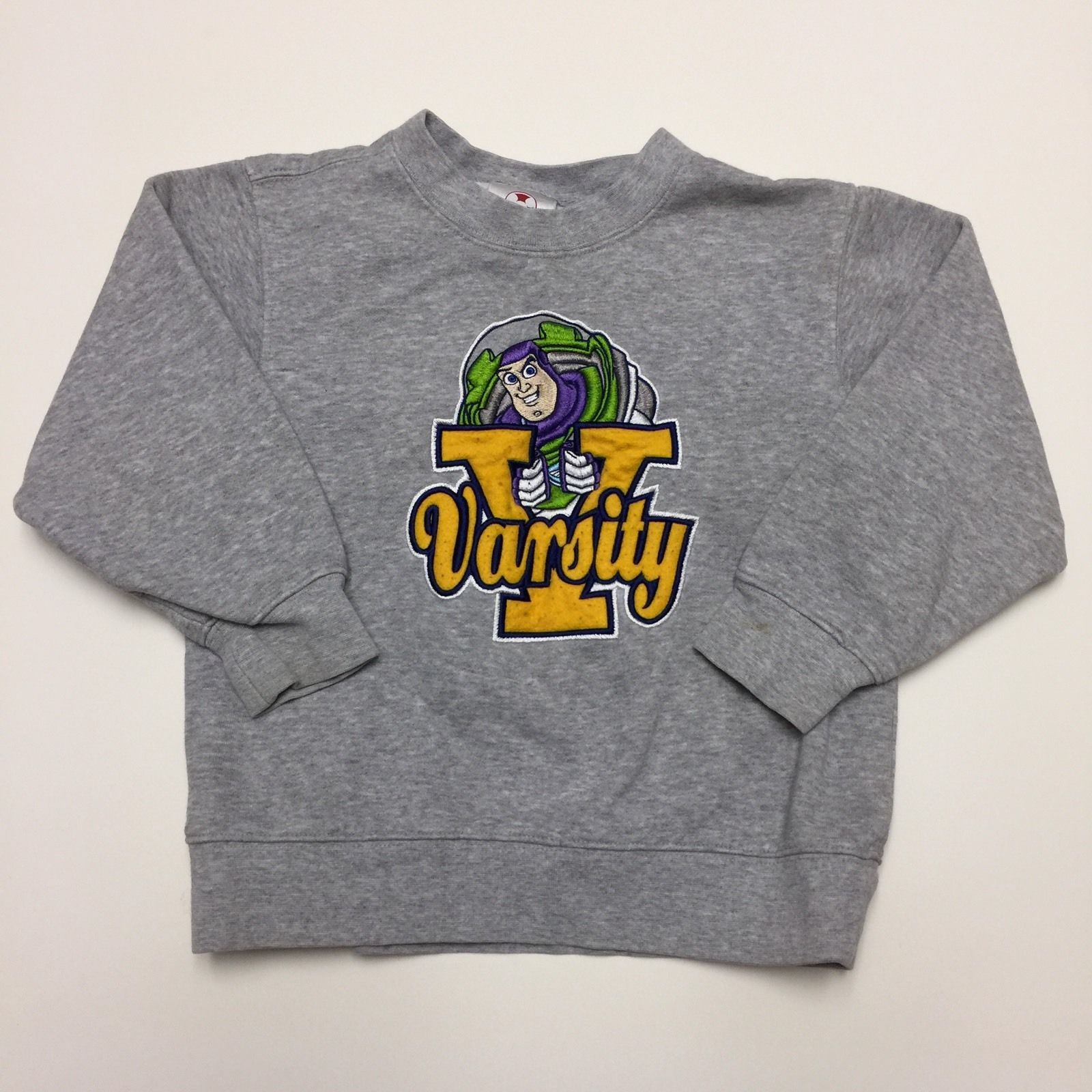Primary image for Disney Store Buzz Lightyear Varsity Sweatshirt Childs Size 4 XS Gray Toy Story