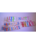 14 Rhinestone Sticker Sheets Dream, Celebrate, Happy, Live, Multi Colors  - €9,75 EUR