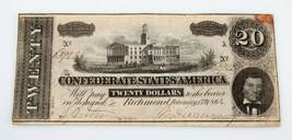 1864 Confederado Estados de América en Cuenta en MB Estado - $66.59