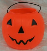 General Foam Plastic Blow Mold Pumpkin Pail Halloween Bucket Jack-O-Lant... - $9.89