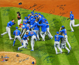 2016 CUBS Team Signed World Series 20x24 Photo w/7 Inscriptions (23 Auto... - $2,474.01