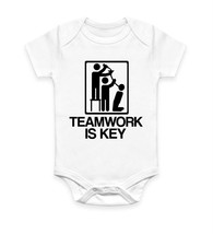 Teamwork Is Key Funny Office Party Drunk Alcohol Body Suit Baby Grow Ves... - $10.46