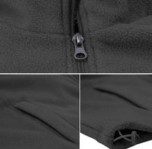 Men's Lightweight Warm Polar Fleece Jacket Full Zip-Up Collared Sweater Vest image 7