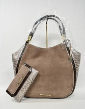 SET of Brahmin Thelma Leather Shoulder Bag/Tote in Chardonnay Clermont +... - $469.00