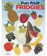 Fun Fruit Fridgies Magnets TNS Plastic Canvas Pattern Leaflet 12 DESIGNS - $3.57