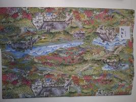 Cottages Print, Hi-Fashion Fabrics, 2.5 yd. (W2079) - $5.00