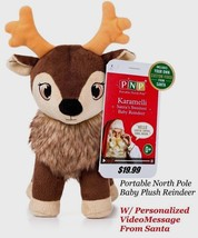 Christmas Portable North Pole Baby Reindeer w/Video Message from Santa - $19.99