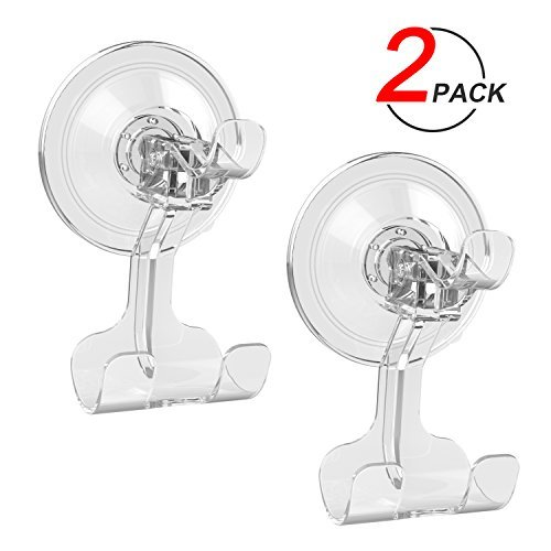 Suction Cup Hook LUXEAR Removable Hook Razor Holder for Shower Suction Hooks for