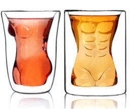 Sexy Lady Men Durable Double Wall Whiskey Glasses Wine Shot Glass Beer Cup  - €11,13 EUR+