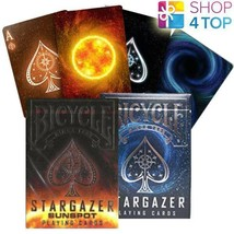 2 DECKS BICYCLE 1 STARGAZER AND 1 SUNSPOT PLAYING CARDS TRICKS USPCC NEW - $15.58