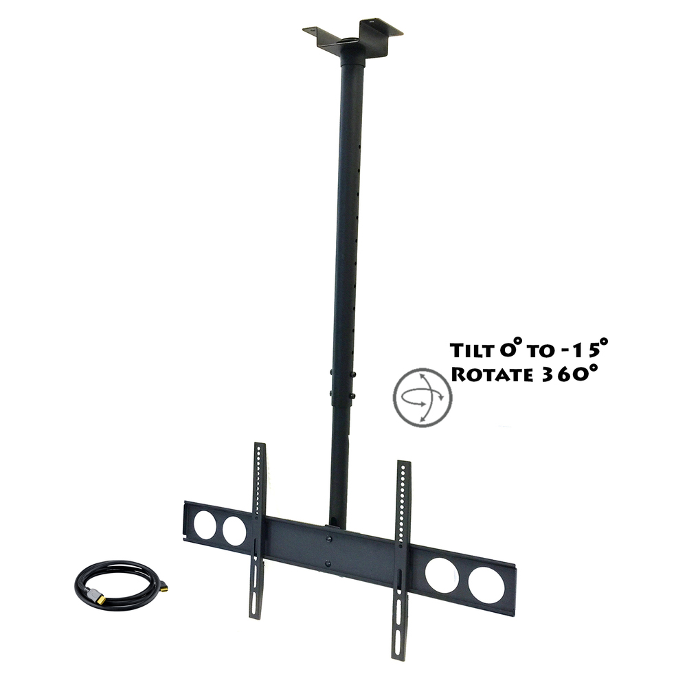MegaMounts Heavy Duty Tilting Ceiling Televeision Mount for 37 to 70 LCD, LED an