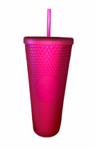 Starbucks Neon Pink Studded Tumbler Fall 2021 24oz Cold Cup NWT - $43.95