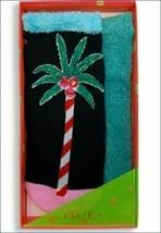 Neuf HUE 2-pack Vacances Noël Palmier Footsie Non Show Souple Chaussettes Cadeau image 2