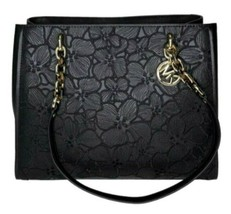 NWT Michael Kors Sofia Leather Large Embroidery Tote Shoulder Bag Black ... - $237.98
