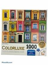 COLORLUXE 1000  PIECE PUZZLE Colorful Windows Maximum Color Premium Unique - $9.40