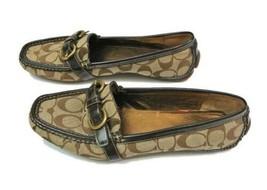 COACH 10B Sharin Brown Jacquard Signature Loafer Shoe - $75.00
