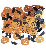 Halloween Bats Pumpkins Foil Confetti .5 oz Party - £2.42 GBP