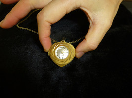 VINTAGE SWISS NECKLACE PENDANT MECHANICAL 15 JEWEL WINDUP WATCH WITH CHAIN - $242.55