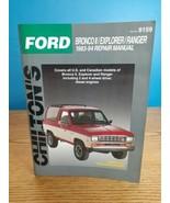 Chilton's Ford Bronco II Explorer Ranger 1983-94 Repair Manual #8159 - $12.86
