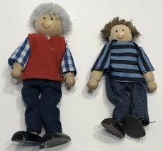 "Melissa & Doug Wooden Figures 5"" Grandpa / Grandfather And 4"" Grandson - $14.69"