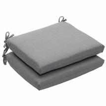 Pillow Perfect Indoor/Outdoor Textured Solid Square Seat Cushion 18.5 In... - £55.76 GBP
