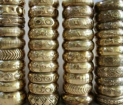 "1-1.5"" Gold Brass Bangles (Per One) - $4.60"