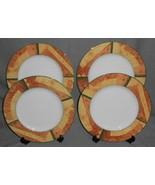 Set (4) MIKASA ULTIMA+ Super Strong Fine China STRATA PATTERN Dinner Plates - $49.49